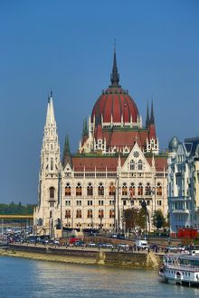 The Hungarian Parliament Building, the Orszaghaz, in Budapest, Hungary