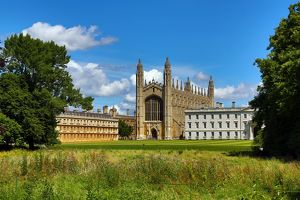 King's College and the Backs, Cambridge, England, UK