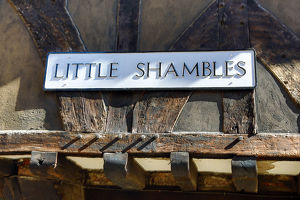 Little Shambles street sign in York, Yorkshire, England