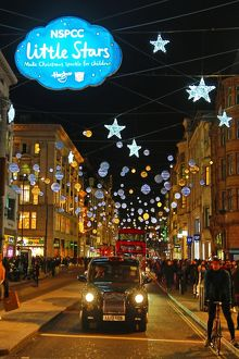 Little Stars Oxford Street Christmas Lights, London