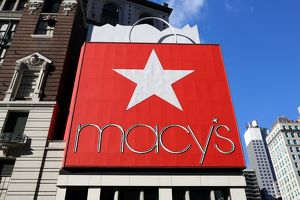 Macy's Department Store and red sign, New York City, New York, USA