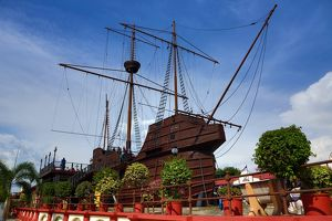 Malacca Maritime Mueum in a replica of the Flora de la Mar sailing ship in Malacca