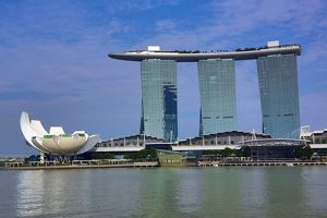 Marina Bay Sands Hotel in Marina Bay in Singapore, Republic of Singapore