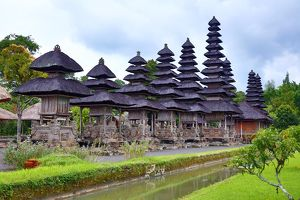 Meru shrines at the Royal Temple of Mengwi, Pura Taman Ayun, Bali, Indonesia