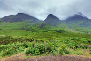 Mountains in Glen Coe in the Scottish Highlands, Scotland