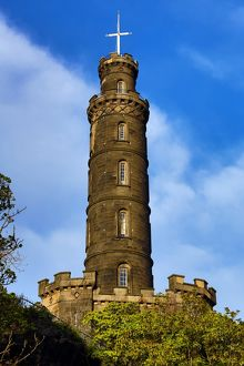 Nelson's Monument on Calton Hill in Edinburgh, Scotland, United Kingdom