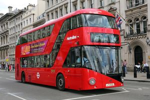 New Routemaster Red London double-decker bus