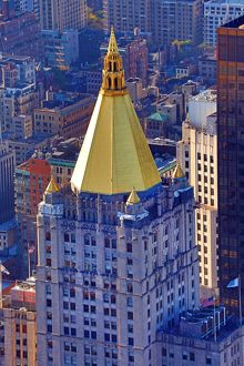 New York Life Building gold topped tower, New York. America