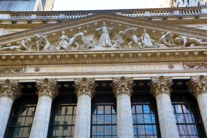 New York Stock Exchange on Wall Street, New York. America