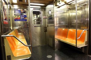 New York Subway train carriage, New York. America