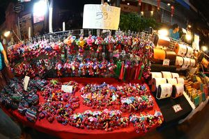 Night street market in Chiang Mai, Thailand