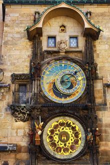 prague czech republic/orloj astronomical clock old town city hall old