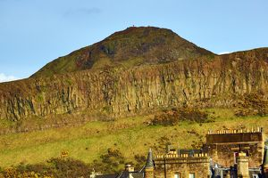 Peak of Arthur's Seat and the Salisbury Crags in Edinburgh, Scotland, United Kingdom