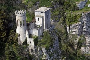 Pepoli Tower in Erice, Sicily, Italy