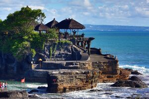 Pura Tanah Lot temple in Tanah Lot, Bali, Indonesia