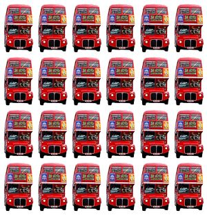 Red London Double-Decker Routemaster Bus Souvenir