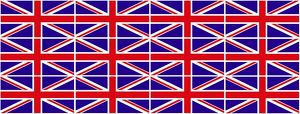 Red, White and Blue Union Jack British Flag Souvenir