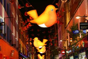 Regent Street and Carnaby Street Christmas Lights switched on, London, England