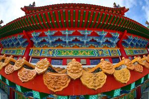 Roof decorations on the Thean Hou Chinese Temple, Kuala Lumpur, Malaysia