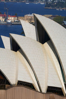 Roof of the Sydney Opera House, Sydney, New South Wales, Australia
