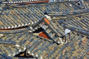 Roofs in the old town of Bukchon Hanok village in Seoul, Korea