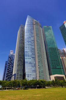 Singapore city skyline skyscrapers and office blocks, Republic of Singapore