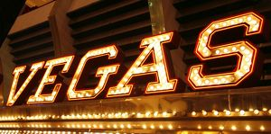 Souvenir of Neon Lights on casino in Las Vegas, America