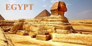 Souvenir of the Sphinx and Pyramids in Giza, Cairo, Egypt