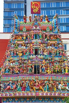 Sri Veeramakaliamman Hindu Temple in Singapore, Republic of Singapore