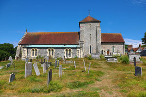 St Margaret's Church in the village of Rottingdean, East Sussex, England, United
