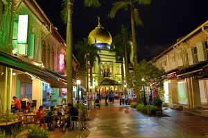 The Sultan Mosque in Little India in Singapore, Republic of Singapore