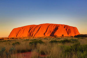 sunset at uluru ayers rock australia
