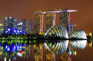 Supertrees Gardens by the Bay, Marina Bay Sands hotel, Singapore