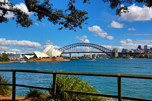 Sydney Opera House and Harbour Bridge, Sydney, New South Wales, Australia