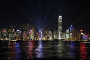 Symphony of Lights and the Hong Kong Skyline