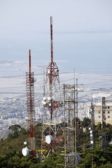 Telecommunications tower in Erice, Sicily, Italy