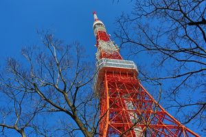 The Tokyo Tower in Tokyo, Japan