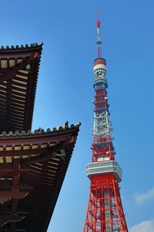The Tokyo Tower and the Zozoji Temple, Tokyo, Japan