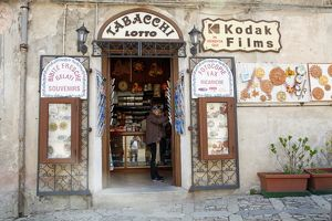 Tourist shop in Erice, Sicily, Italy