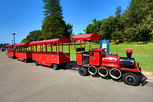 Tourist train in the Royal Botanic Gardens, Sydney, New South Wales, Australia