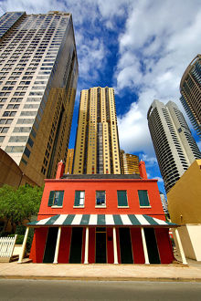 Traditional old buildings and skyscrapers, Sydney, New South Wales, Australia