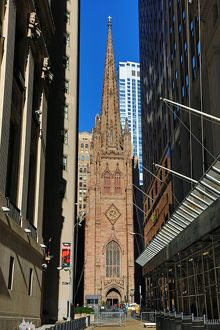 Trinity Church on Wall Street, New York. America