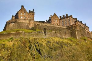 View of Edinburgh Castle in Edinburgh, Scotland