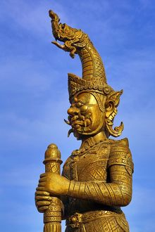 Warrior statue at Wat That Foun Temple, Vientiane, Laos