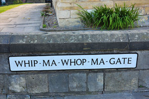 Whip-ma-whop-ma-gate street sign in York, Yorkshire, England