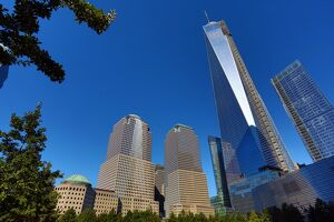 One World Trade Center ( 1 WTC ) building in the new World Trade Centre Complex, New York